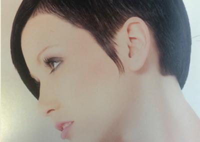 Kurzhaar, schwarz, pflegeleicht Frisur für jeden Tag