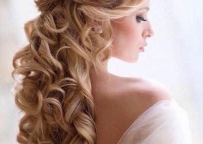 Wallendes Haar für hochzeit